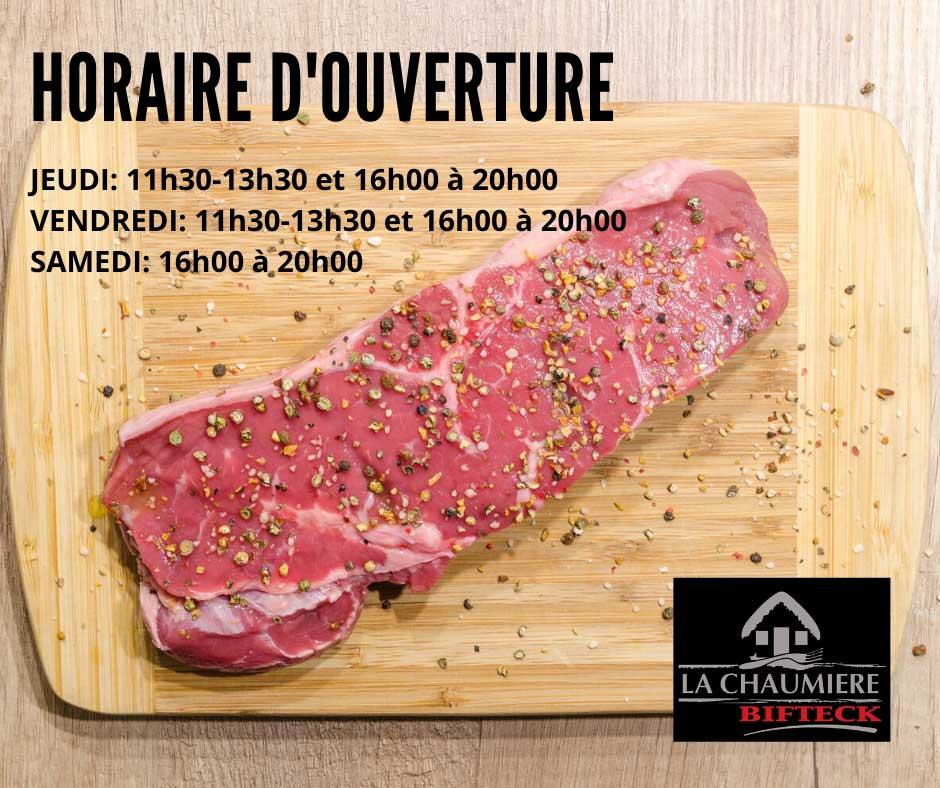 Menu Spécial Covid Restaurant La Chaumière